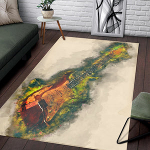 Vintage Electric Guitar  Area Rugs,  Kitchen Rug,  Family Decor