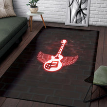 Load image into Gallery viewer, Winged Electric Guitar Printing Instrument Rug, Living Room Rug, Home Decor