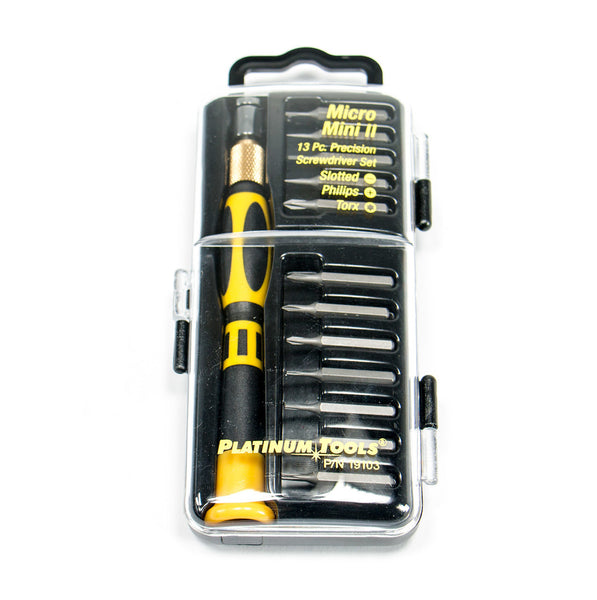 Micro Mini II Precision Screwdriver Set, 13 Pieces