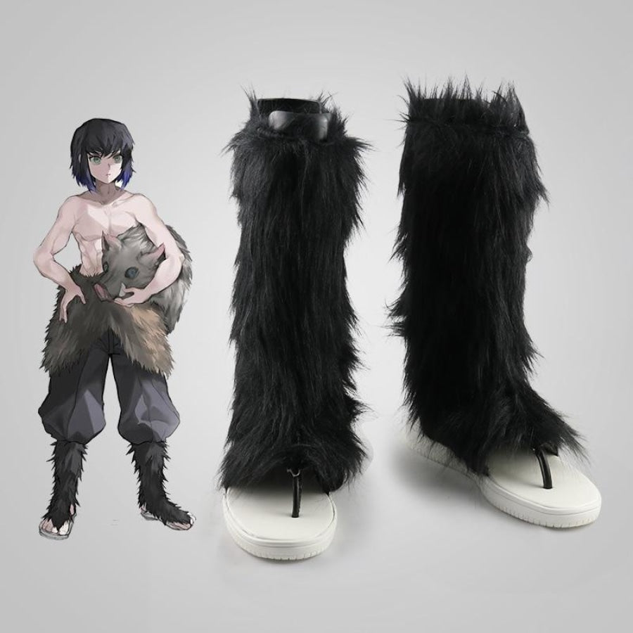 Anime Demon Slayer Kimetsu No Yaiba Cosplay Shoes Hashibira Inosuke High Samurai Mp006059 36 / Male