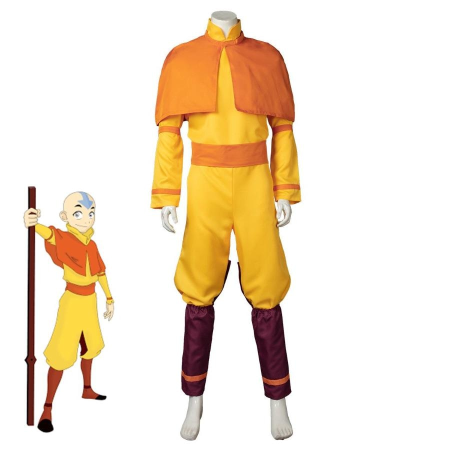 Avatar The Last Airbender Aang Cosplay Costume Mp005592 Costumes