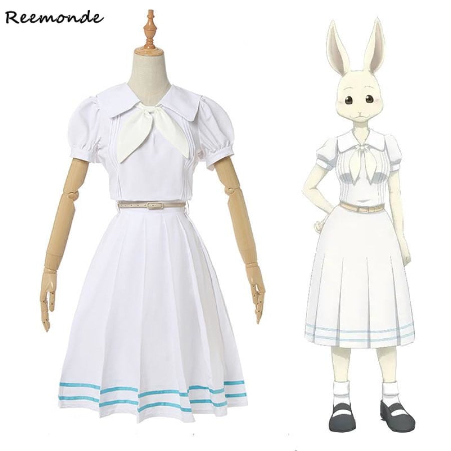 Anime Beastars Haru Cosplay Costume Lolita Dress Skirt Women School Uniform White Rabbit Girls