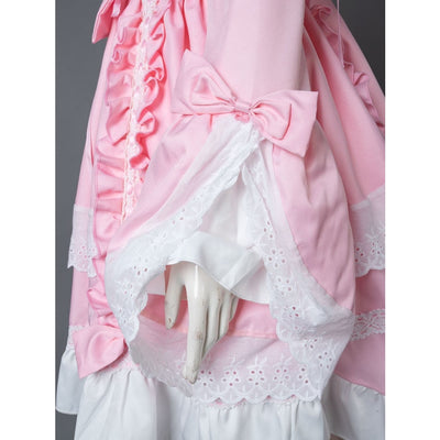 Court Maid Lace Trim Bow Princess Lolita Kawaii Dress Mp006100