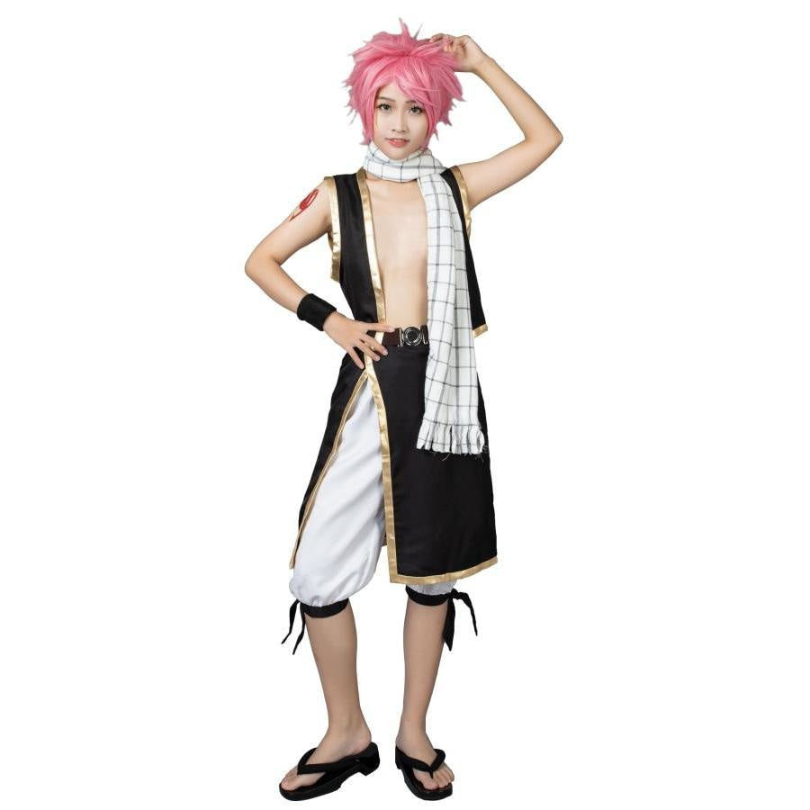Fairy Tail Natsu Cosplay Costumes Outfits With Scarf Mp000115 S / Us Warehouse (Us Clients