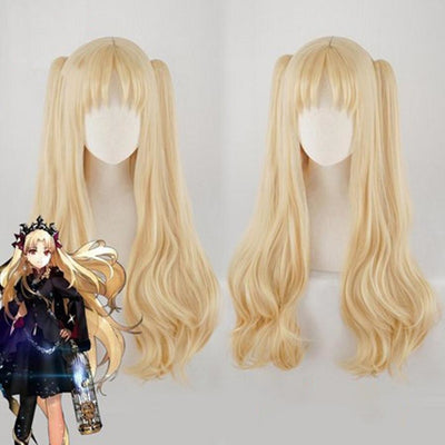 Fate Grand Order Irkalla Ereshkigal Cosplay Wig Wavy Hair Pigtails C00295 Wigs