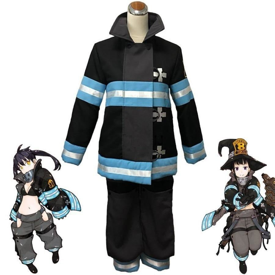Fire Force Enen No Shouboutai Tamaki Kotatsu Shinra Kusakabe Takehisa Hinawa Firefighter Uniform