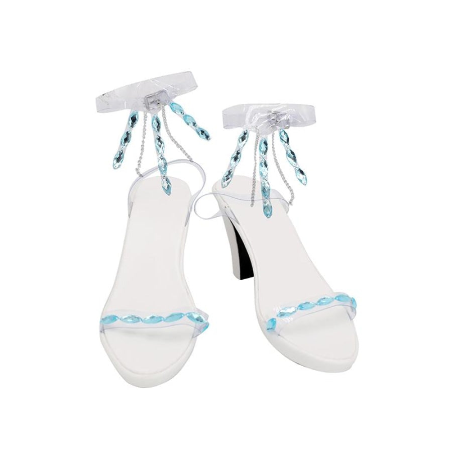 Frozen 2 Ice Queen Elsa High-Heeled Crystal Shoes C00416 Eur 35 & Boots
