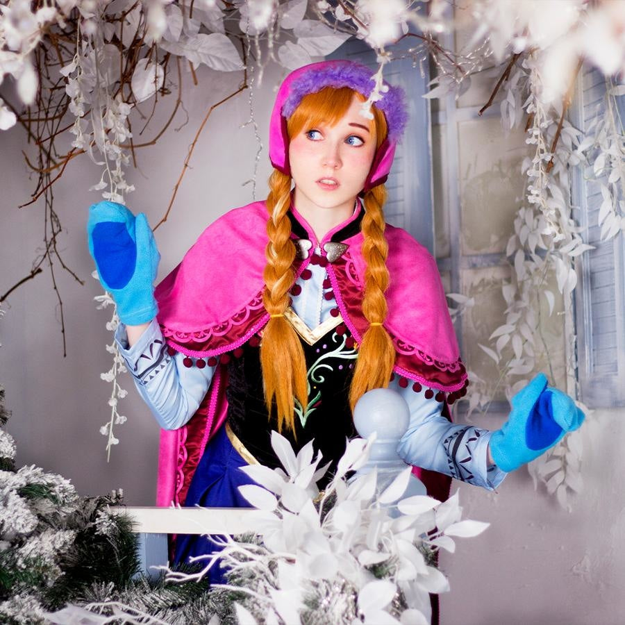 Frozen Anna Cosplay Costumes Princess Dress Mp001318