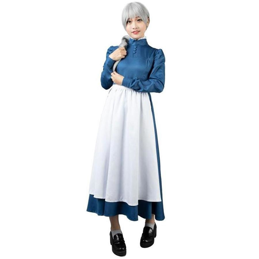 Howls Moving Castle Sophie Hatter Cosplay Costumes Maid Blue Dress Mp004181 Xs / Us Warehouse (Us