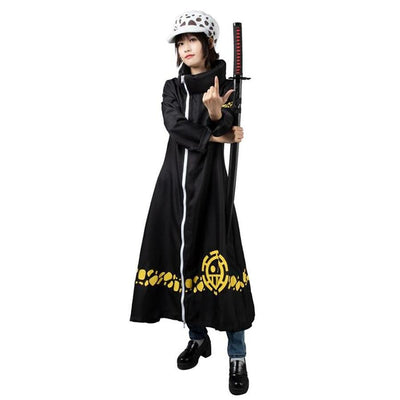 One Piece Trafalgar Law Surgeon Of Death Cosplay Costumes Mp002027 Xs / Us Warehouse (Us Clients