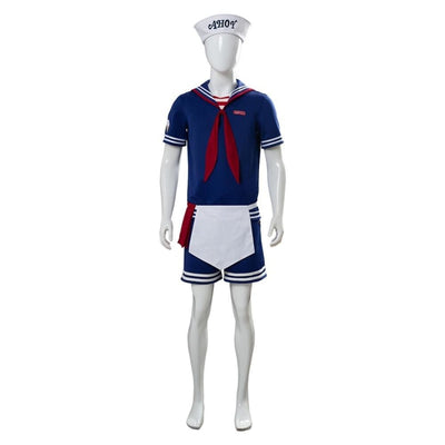 Stranger Things 3 Robin Scoops Ahoy Cosplay Costume Steve Harrington Sailor Uniform Costumes