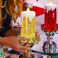 SparklingCandle - Color Changing LED Water Candle With Glitters