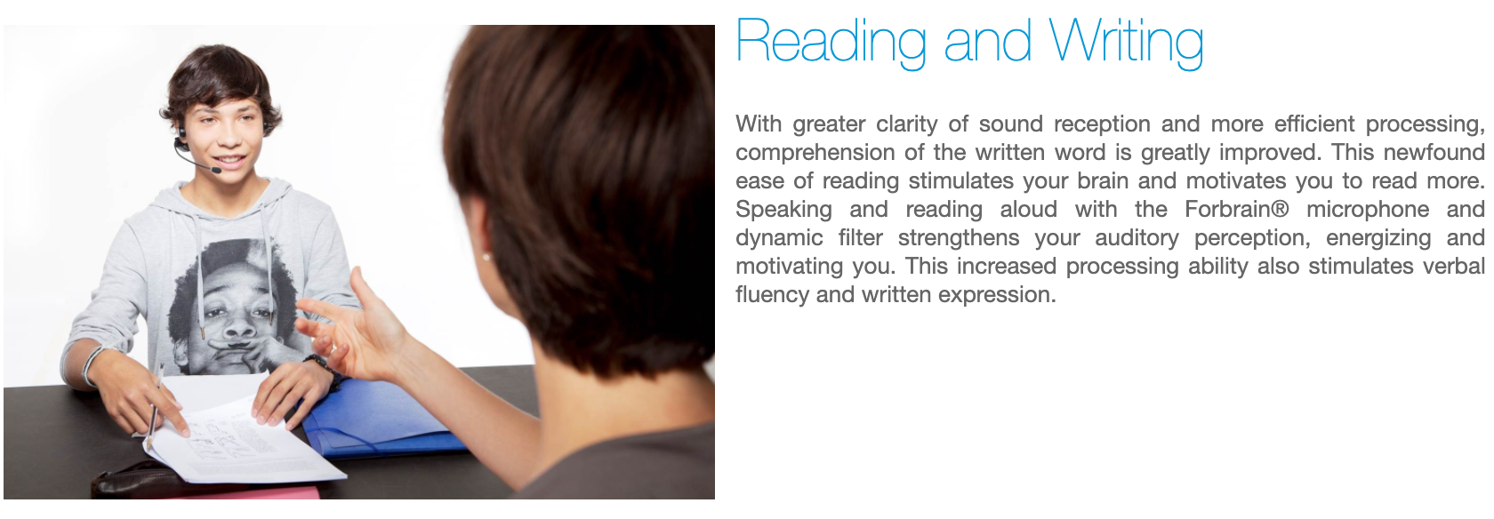 Forbrain - Reading and Writing
