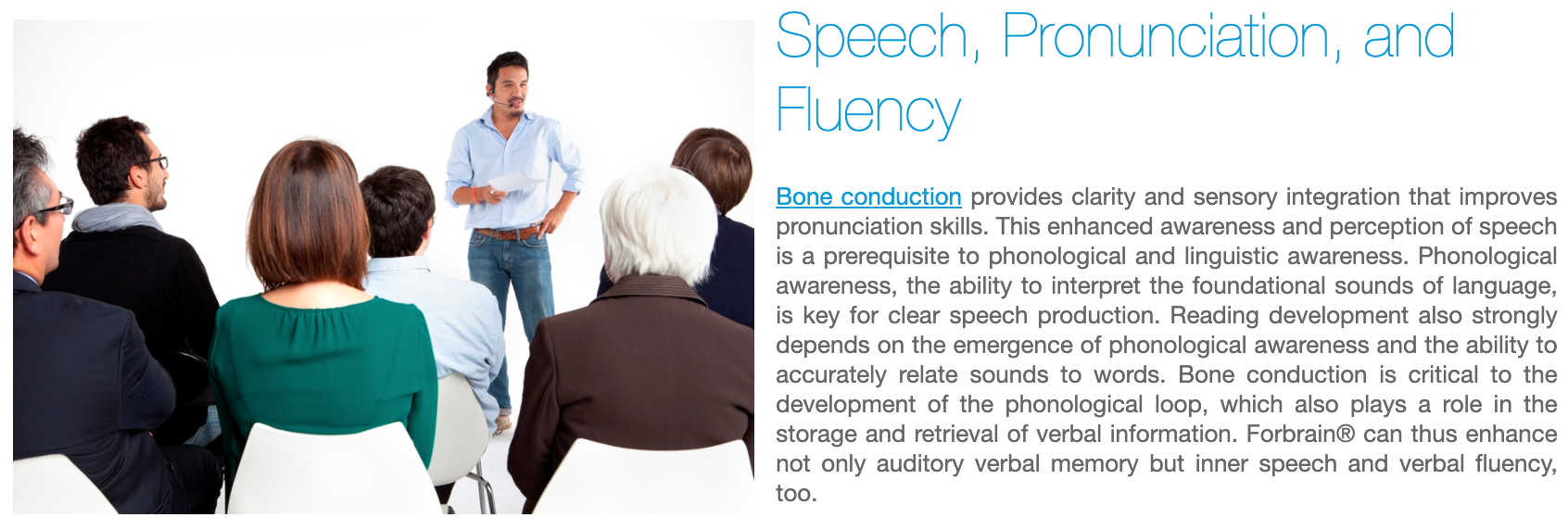 Forbrain - Speech