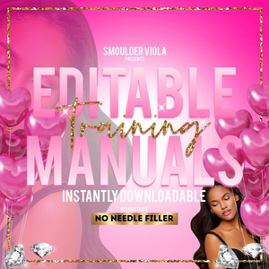editable no needle filler training manual