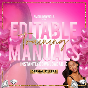 editable dermal filler training manual