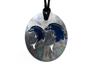 Personal Pendant - Double Dolphin Patterned/Blue