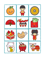 Chinese New Year Memory Matching Cards