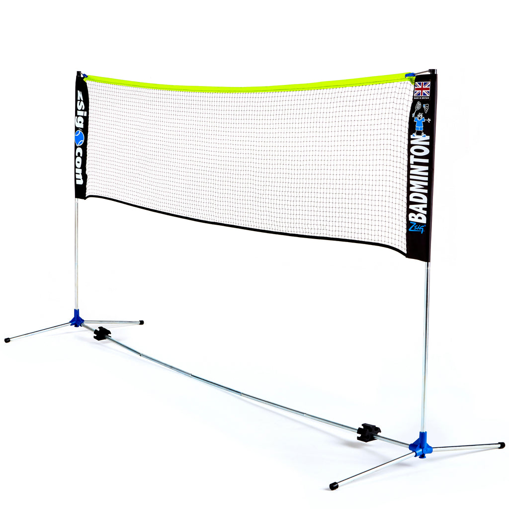 Zsig 3m Classic Badminton Net - 1.55 cm at raised side poles.