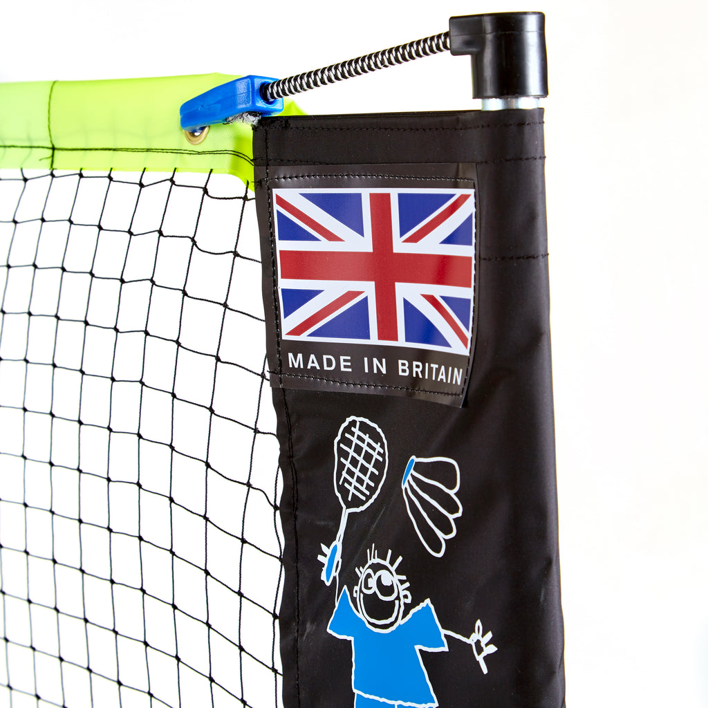 Badminton clip and bungee tensioning system, and Zsig's Made in Britain flag