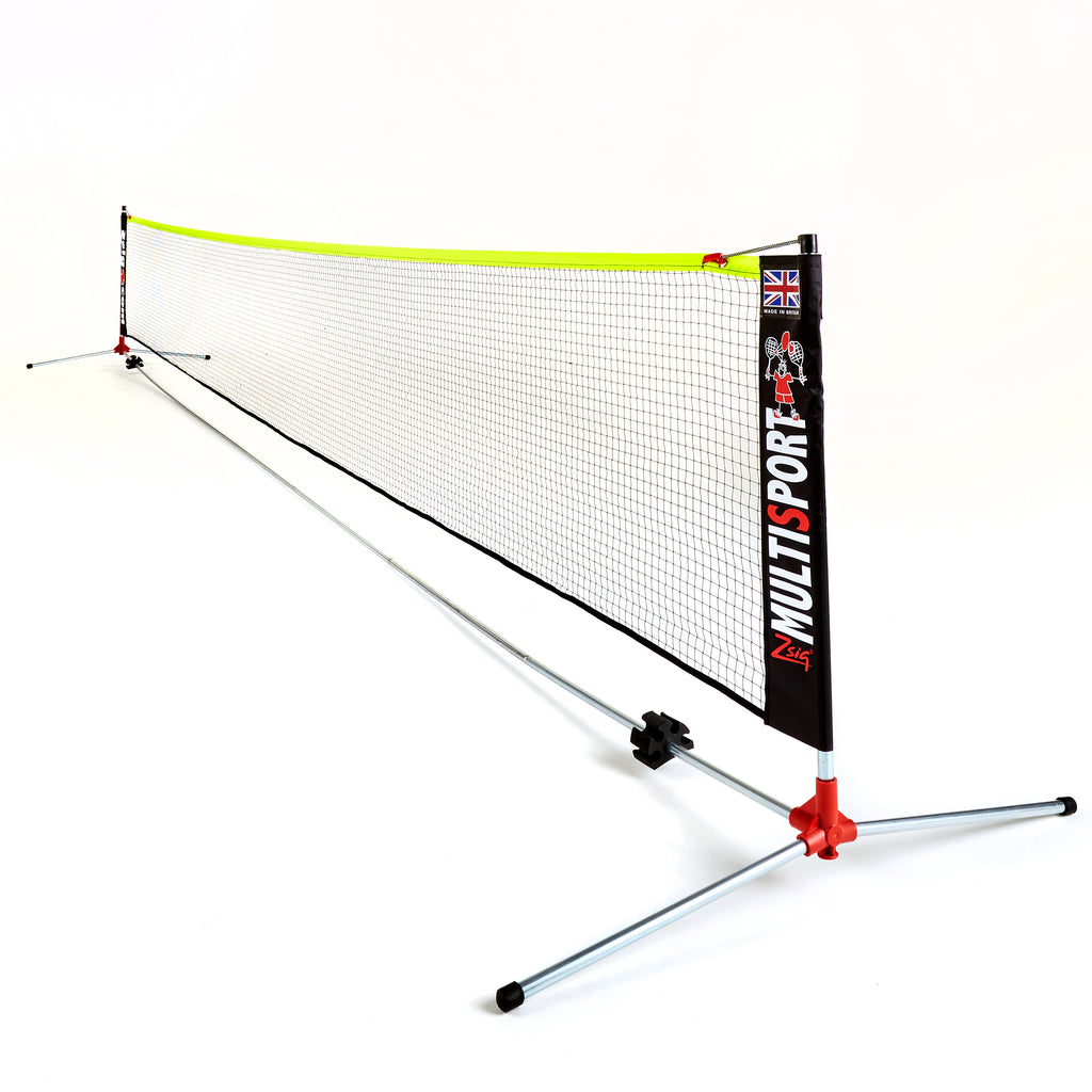 ZSig's Classic 6m Multipsort Net System shown at Mini Tennis Net height.