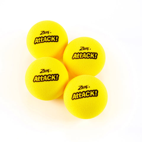 Mini Tennis | Attack! Touch Tennis Balls | Four Pack (4)