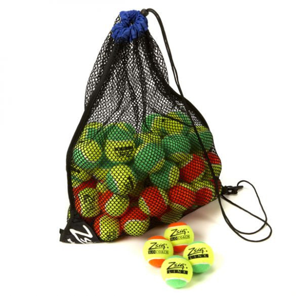 Mini Tennis Balls Orange & Green Mixed (60)