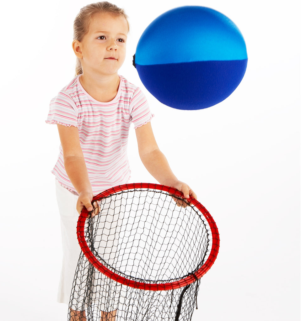 Early Years Coaching. Use an Easy Catch Net with the slow flight of a Balloon Ball for young children & inclusive groups.