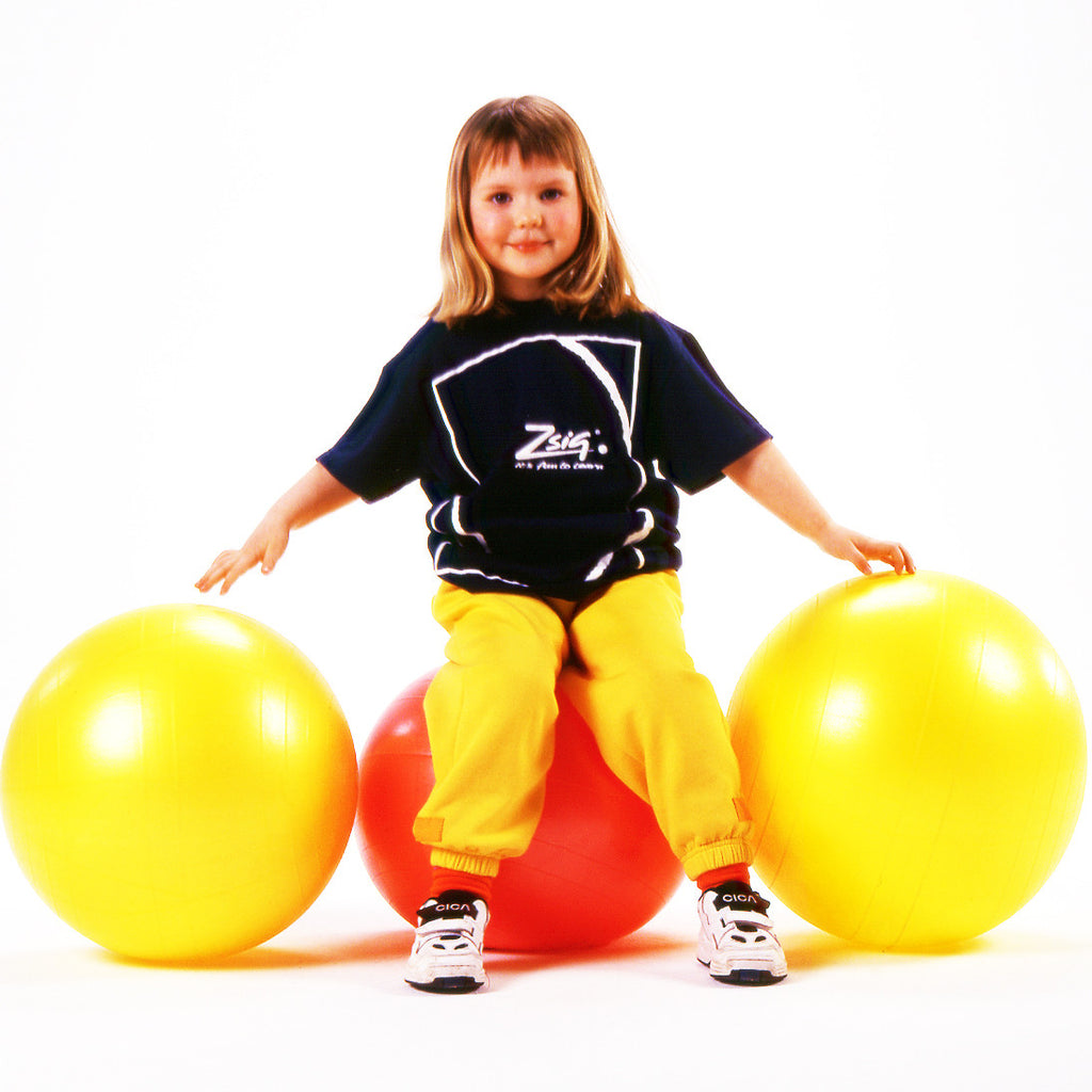 Early Years Ball. Soft, safe Easy Squeezy ball in bright blue, yellow or pink.