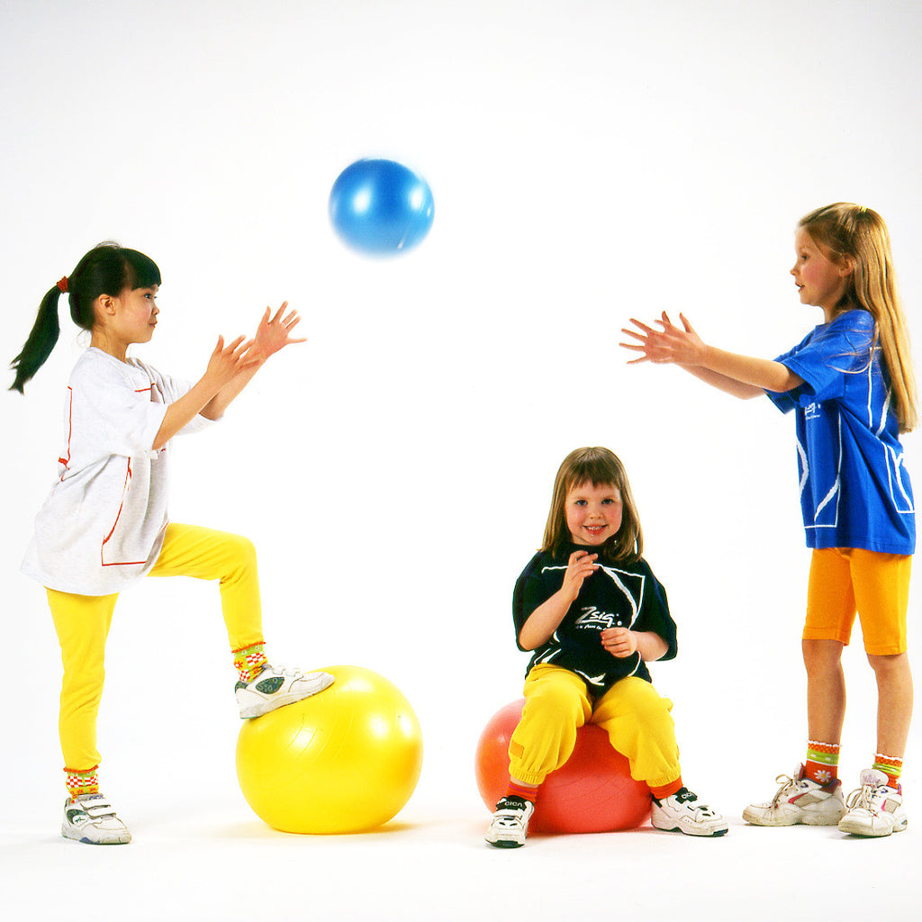 Early Years Ball. Learn to throw and catch with a gentle Easy Squeezy ball in bright blue, yellow or pink.