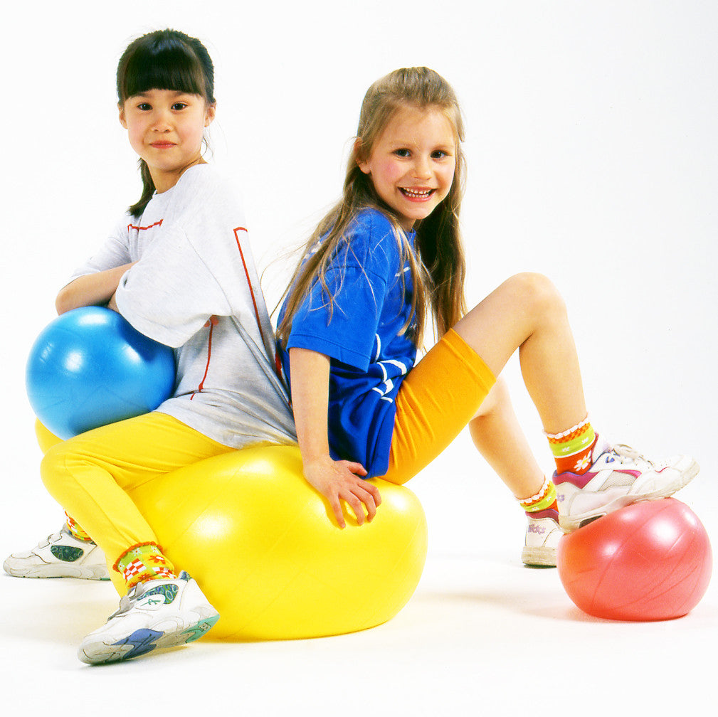 Early years Coaching Aid. Large size fitness ball for teaching early ball skills. Bright colours.