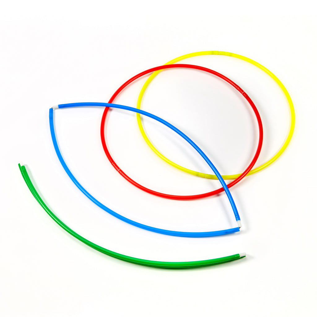 ZSIG Folding Hula Hoops showing both open and folded
