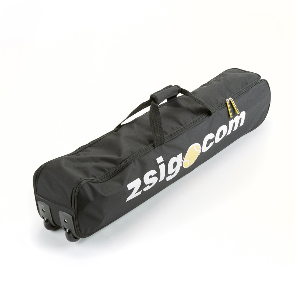 Our new portable full size tennis net is easy to transport packed in its bespoke wheeled holdall.