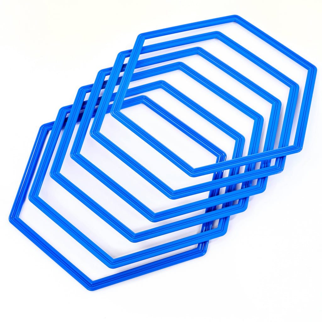 Hexahoops - set of 6 blue hoops