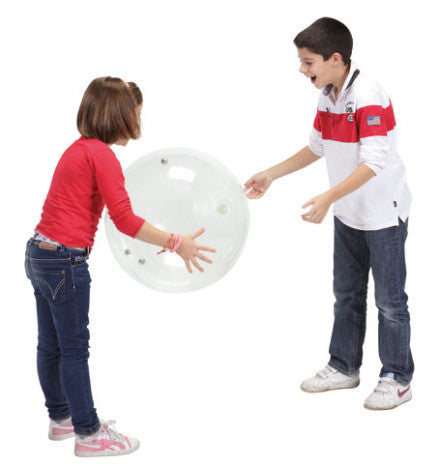 Throw the ball, and bells jingle! Large transparent ball for Early Years or Visually Impaired use.
