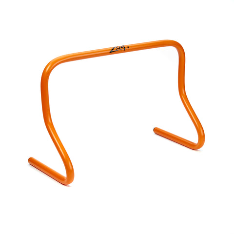 Mini hurdles in bright orange. 30cm height.