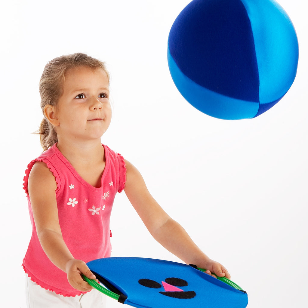 Early Years Coaching Aid. Practise hand-eye coordination with Zsig's Easy Catch range. Happy Face and Balloon Ball.