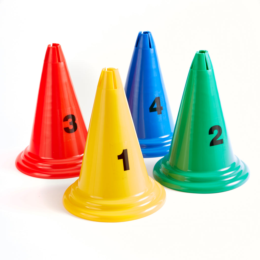 Mini Cones | 30cm | Set of 4 | Numbers