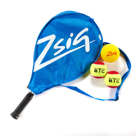 Mini Tennis | Red Stage | 21in Racket, Headcover & 3 Balls | Blue