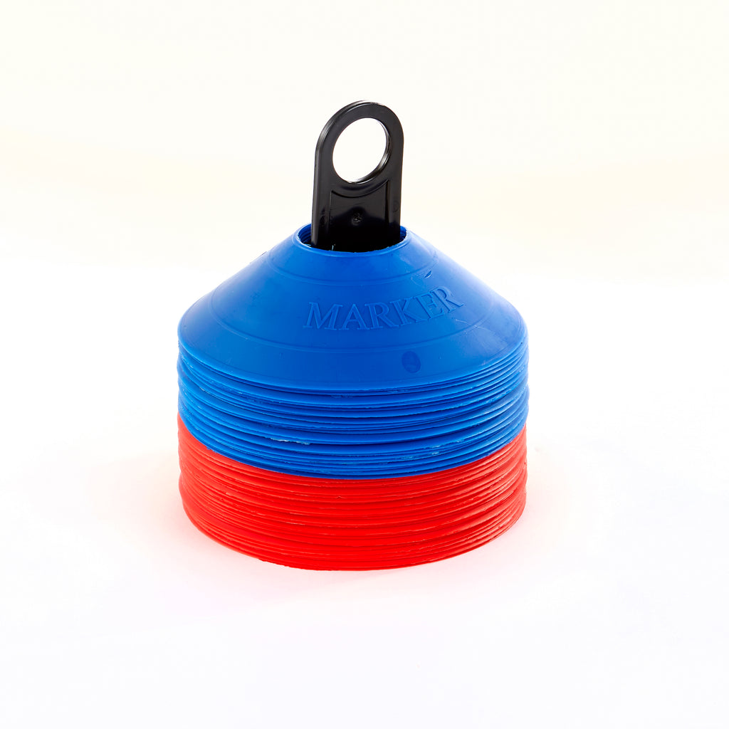 50 Red & Blue Safety Markers with carry pole