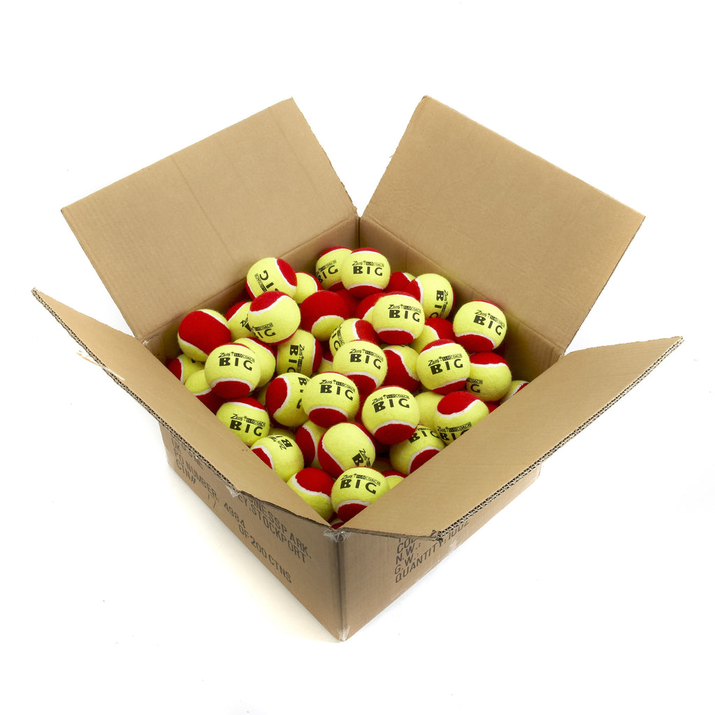 Mini Tennis Balls carton of 120 Slocoach Big Red balls for Stage 3 & Red Coaching