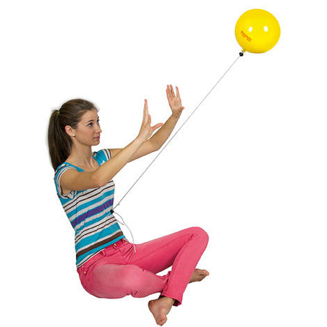 Using the Sports Trainer Ball in toning exercises.
