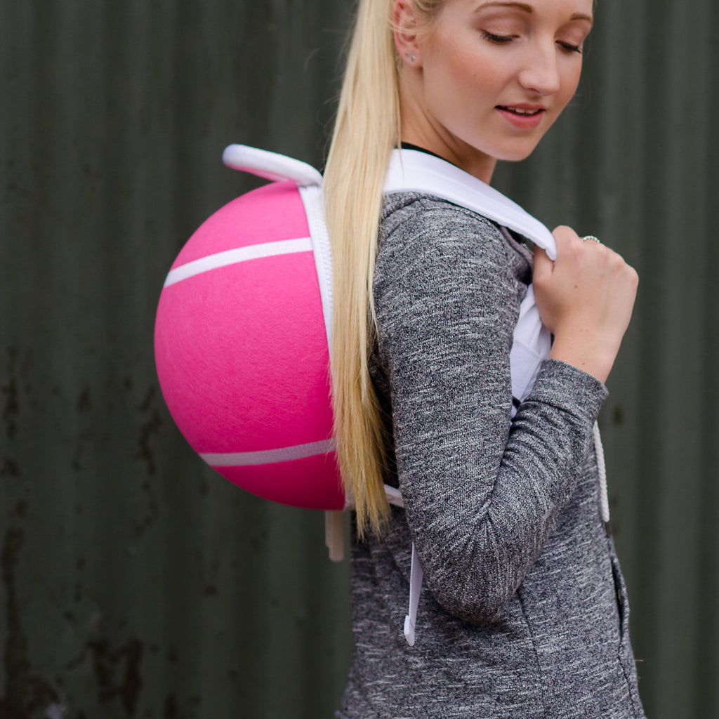 Sportpax tennis ball back pack in pink
