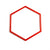 Red Flat Hexagon hoop for coaching and training.