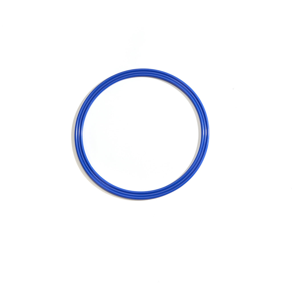 Small blue 30cm flat hoop for sports coaching & training.