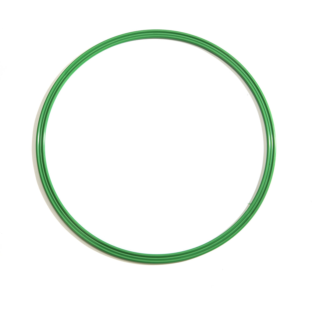 Large green 50cm flat hoop for sports coaching & training.