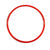 Large 50cm red flat hoop for sports coaching & training.