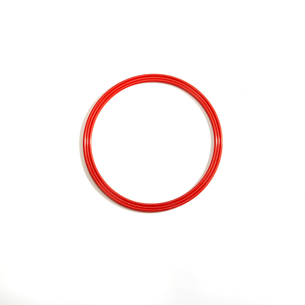 Red 30cm flat hoop for sports coaching and training