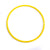Large yellow 50cm flat hoop for sports coaching & training.