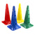 Sports marker cones with 3 vertical height positions for hurdles & top slot to support a vertical pole.
